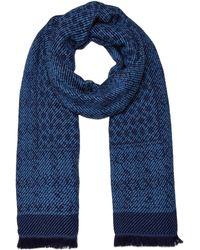 Dickins & Jones - Donna Mixed Weave Blanket Scarf - Lyst