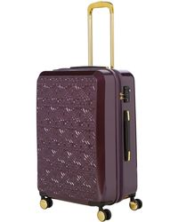 Biba - Logo Emboss Purple 8 Wheel Medium Suitcase - Lyst