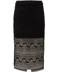 Bardot | Geo Laced Skirt | Lyst