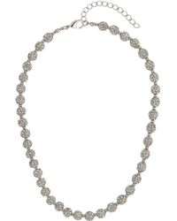 Mikey - Crystal Small Heavy Necklace - Lyst