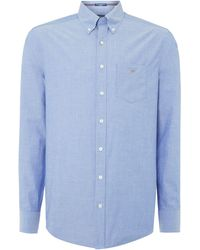 GANT - Broadcloth Long Sleeved Shirt - Lyst