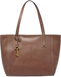 Fossil - Emma Leather Tote Bag - Lyst