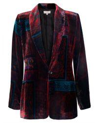 East - Silk Velvet Eva Print Jacket - Lyst