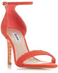 Dune - Orange Suede 'mortimer' Ankle Strap Sandals - Lyst