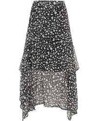 Label Lab - Lela Asymmetric Cheetah Print Skirt - Lyst