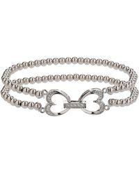 Mikey - Twin Heart Twin Elastic Bracelet - Lyst