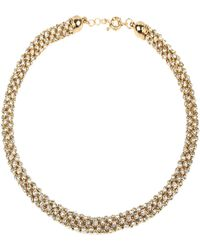 Mikey - Rope Crystal Necklace - Lyst