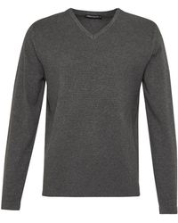 French Connection | Milano Front Cotton V Neck Jumper | Lyst
