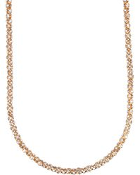 Anne Klein - Tube Pave Strand Necklace - Lyst