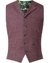 Gibson - Men's Red Dogtooth Waistcoat - Lyst