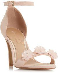 Dune - Muse Metallic Flower Stiletto Sandals - Lyst