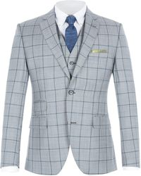 Gibson - Grey With Blue Overcheck Jacket - Lyst