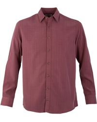 Double Two - Men's Textured Soft Touch Casual Shirt - Lyst