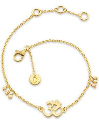 Daisy London - Om Good Karma Chain Bracelet - Lyst