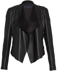French Connection | Stephanie Faux Leather Waterfall Jacket | Lyst