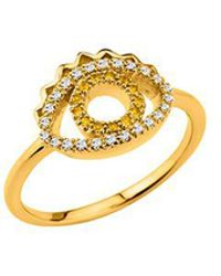 KENZO - 24134010305 Gold Plated & Cz Ring - Lyst