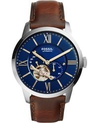 Fossil - Me3110 Mens Mechanic Strap Watch - Lyst
