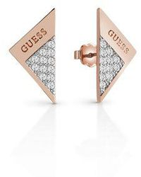 Guess | Revers Ube83086 Sparkle Fold Stud | Lyst