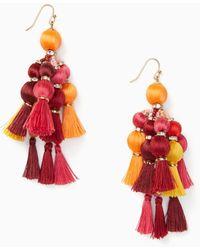 Kate Spade | Wbrue191 Tassel Statement Earrings | Lyst