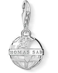 Thomas Sabo - Charm Club Globe Cut-out Charm - Lyst