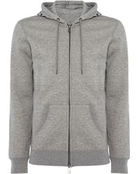 Armani Jeans - Zip Through Hoodied Small Logo Sweat Top - Lyst