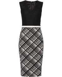 Ellen Tracy - Bonded Lace Fitted Dress - Lyst