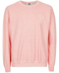 TOPMAN - Pink Varsity Sweatshirt - Lyst