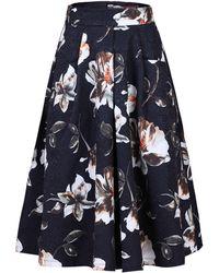 Jolie Moi - Floral Print 50s A-line Skirt - Lyst