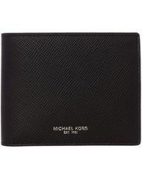 Michael Kors - Billfold Crossgrain Leather Wallet - Lyst