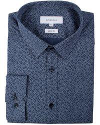Limehaus - Men's Blue Mosaic Print Forward Point Shirt - Lyst