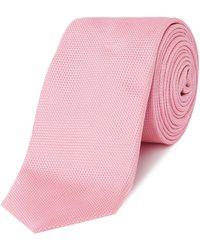 HUGO - Textured Tie - Lyst