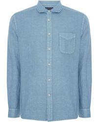 Howick - Men's Hinton Linen Long Sleeve Shirt - Lyst