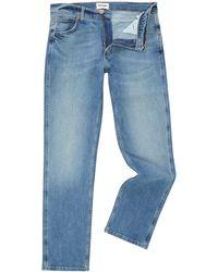Wrangler - Men's Greensboro Regular Fit Light Wash Jeans - Lyst