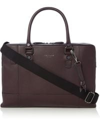 Ted Baker - Jager Leather Document Bag - Lyst