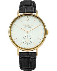 Fiorelli - Ladies Black Croc Leather Strap Watch - Lyst