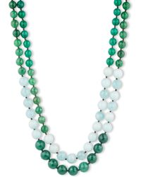 Lonna & Lilly - Dip Dye Green Bead Necklace - Lyst