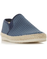 Dune - Firmino Espadrilles Trim Slip On Shoes - Lyst