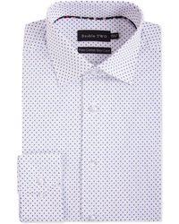 Double Two - Men's Geometric Print 100 Cotton Formal Shirt - Lyst