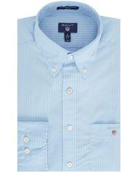 GANT - Men's Pinstripe Poplin Shirt - Lyst