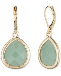 Lonna & Lilly - Green Aventurine Drop Earrings - Lyst
