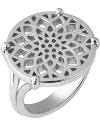 Links of London - Timeless Sterling Silver Coin Ring- Size L - Lyst