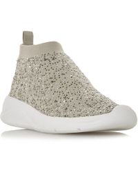 Dune - Emerald Embellished Runner Trainers - Lyst