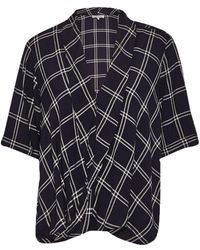 Great Plains | Chequers Drape Top | Lyst
