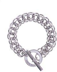 Karen Millen   Encrusted Bar & Hoop Bracelet - Km   Lyst