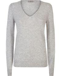 Jaeger - Cashmere V Neck Sweater - Lyst