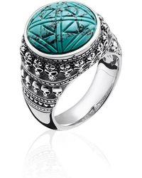 Thomas Sabo - Rebel At Heart Mini Skulls Turquoise Ring - Lyst