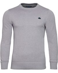 Raging Bull | Big & Tall Plain Crew Neck Pull Over Jumper | Lyst