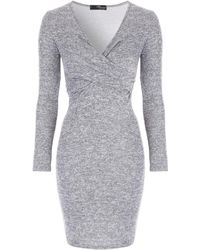 Jane Norman - Knot Front Dress - Lyst