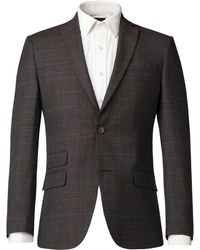 Racing Green - Men's Lytton Brown Puppytooth Jacket - Lyst
