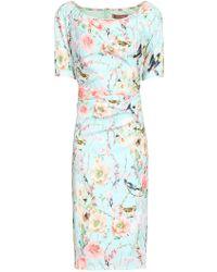Jolie Moi - Floral Print Half Sleeve Dress - Lyst